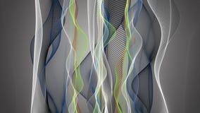 Animación fantástica con el objeto de la onda de la partícula en la cámara lenta, 4096x2304 lazo 4K stock de ilustración