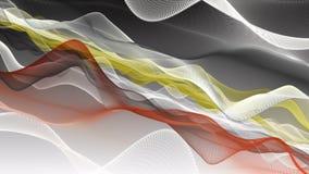 Animación fantástica con el objeto de la onda de la partícula en la cámara lenta, 4096x2304 lazo 4K