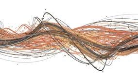 Animación fantástica con el objeto de la onda de la raya y partículas en la cámara lenta, 4096x2304 lazo 4K libre illustration