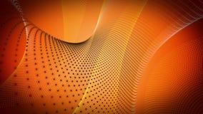 Animación fantástica con el objeto de la raya de la partícula en el movimiento, lazo HD 1080p ilustración del vector