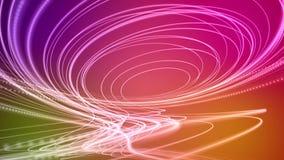 Animación fantástica con el objeto de la raya de la partícula en el movimiento, lazo HD 1080p libre illustration