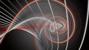 Animación fantástica con el objeto de la raya en la cámara lenta, 4096x2304 lazo 4K libre illustration