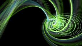 Animación fantástica del eco con el objeto de la raya de la partícula en la cámara lenta, 4096x2304 lazo 4K