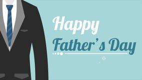 Animación feliz de la historieta del día de padre ilustración del vector