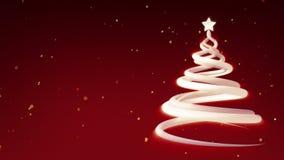 Animación festiva del árbol de navidad ilustración del vector