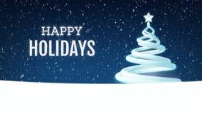 Animación festiva del saludo del árbol de navidad stock de ilustración