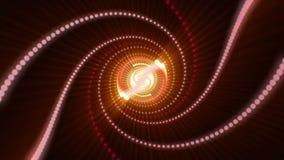 Animación futurista con el objeto de la partícula y luz en el movimiento, lazo HD 1080p ilustración del vector