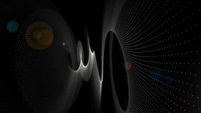 Animación futurista con el objeto de la raya de la partícula y luz en la cámara lenta, 4096x2304 lazo 4K libre illustration