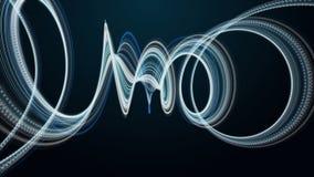 Animación futurista con el objeto de la raya y luz del centelleo en la cámara lenta, 4096x2304 lazo 4K stock de ilustración