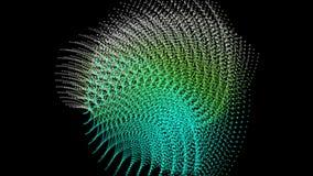 Animación futurista con el objeto móvil de la partícula, lazo HD 1080p stock de ilustración