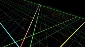 Animación futurista con las rayas y luz del centelleo en la cámara lenta, 4096x2304 lazo 4K libre illustration
