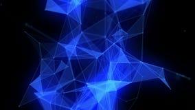 Animación futurista con los triángulos que brillan intensamente en la cámara lenta, 4096x2304 lazo 4K libre illustration