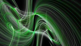 Animación futurista del eco con el objeto de la onda de la raya y luz del centelleo en la cámara lenta, 4096x2304 lazo 4K ilustración del vector