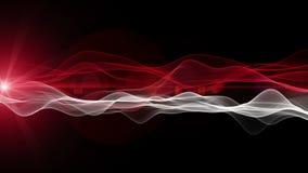 Animación futurista potente con el objeto de la onda y luz en la cámara lenta, 4096x2304 lazo 4K stock de ilustración