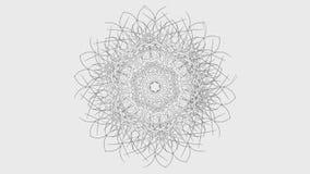 Animación geométrica abstracta de la forma