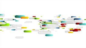 Animación geométrica colorida del vídeo de la tecnología de los rectángulos