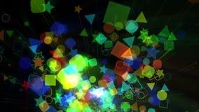 Animación geométrica del fondo de Colorfull ilustración del vector