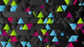 Animación geométrica del vídeo del extracto de la tecnología de los triángulos brillantes