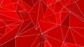animación geométrica triangular roja del fondo metrajes