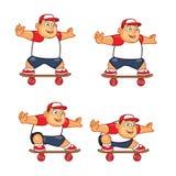 Animación gorda Sprite del patinador del muchacho Fotografía de archivo