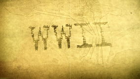 Animación gráfica del título de la Segunda Guerra Mundial de WWII Foto de archivo libre de regalías