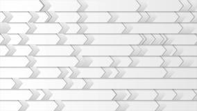 Animación gris del vídeo de las flechas de la tecnología abstracta