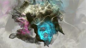 Animación hermosa de la partícula en gris 4K ultra HD ilustración del vector