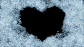 Animación hermosa de la ventana de congelación que forma forma del corazón Máscara alfa Congelación y descongelación Ultra hd 384 stock de ilustración