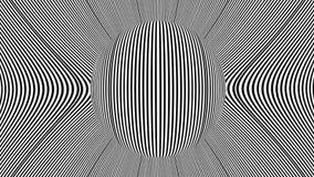 Animación hipnótica del planeta de la rotación metrajes