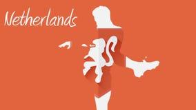 Animación holandesa 2014 del mundial con el jugador ilustración del vector