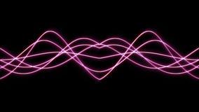 animación inconsútil del fondo 4K de la forma de onda abstracta rayas que fluyen Gráfico del movimiento y fondo de la animación metrajes