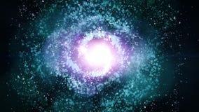 Animación inconsútil del lazo del fondo VJ del espacio de la nebulosa