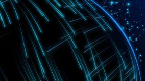 Animación inconsútil del tiroteo de rayo láser ligero azul abstracto del rayo en fondo de alta velocidad stock de ilustración