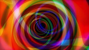 Animación inconsútil del viaje abstracto hermoso Círculos de la animación de las alucinaciones libre illustration