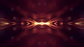 animación inconsútil 4k con las partículas y la profundidad del campo, del bokeh y de los efectos luminosos Curvas de la forma de almacen de video