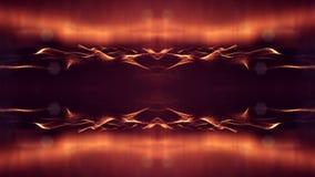animación inconsútil 4k con las partículas y la profundidad del campo, del bokeh y de los efectos luminosos Curvas de la forma de almacen de metraje de vídeo