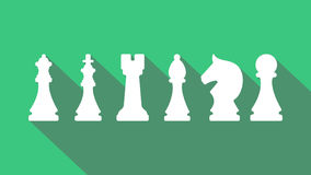 Animación infographic del ajedrez empeño, caballero, obispo, castillo, reina, icono del rey en formato del png con la transparenc libre illustration