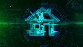 Animación inteligente del concepto de la casa IOT libre illustration