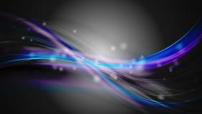 Animación iridiscente del vídeo de las ondas de la púrpura que brilla intensamente azul marino