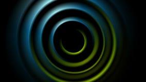 Animación lisa abstracta verde y azul del vídeo de los círculos