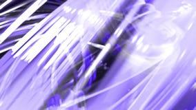 Animación lisa colocada 3d de las cintas brillantes brillantes encrespadas en brillos del círculo como el vidrio Las rayas colori libre illustration