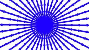 Animación loopable primitiva La forma redonda geométrica está haciendo girar metrajes
