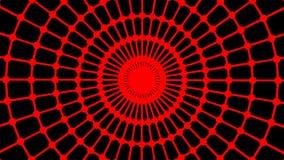 Animación loopable primitiva La forma redonda geométrica está haciendo girar almacen de video