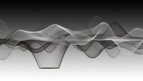 Animación mágica con el objeto de la onda en la cámara lenta, 4096x2304 lazo 4K