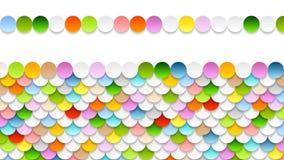 Animación móvil brillante del vídeo de los círculos ilustración del vector