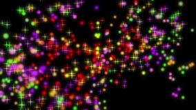 Animación maravillosa de la Navidad con las estrellas y las luces, lazo HD 1080p libre illustration