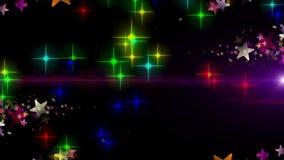 Animación maravillosa de la Navidad con las estrellas y las luces, lazo HD 1080p