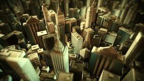 Animación metropolitana del lazo de la ciudad ilustración del vector