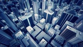 Animación metropolitana del lazo de la ciudad stock de ilustración