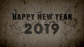 Animación 2019 - migaja de la Feliz Año Nuevo ilustración del vector